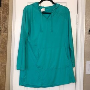 LL Bean hooded sun protection cover up
